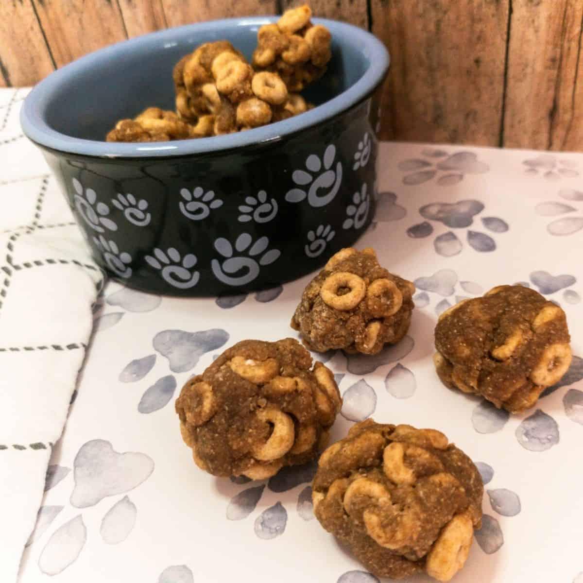 Cheerios & Peanut Butter Dog Treats