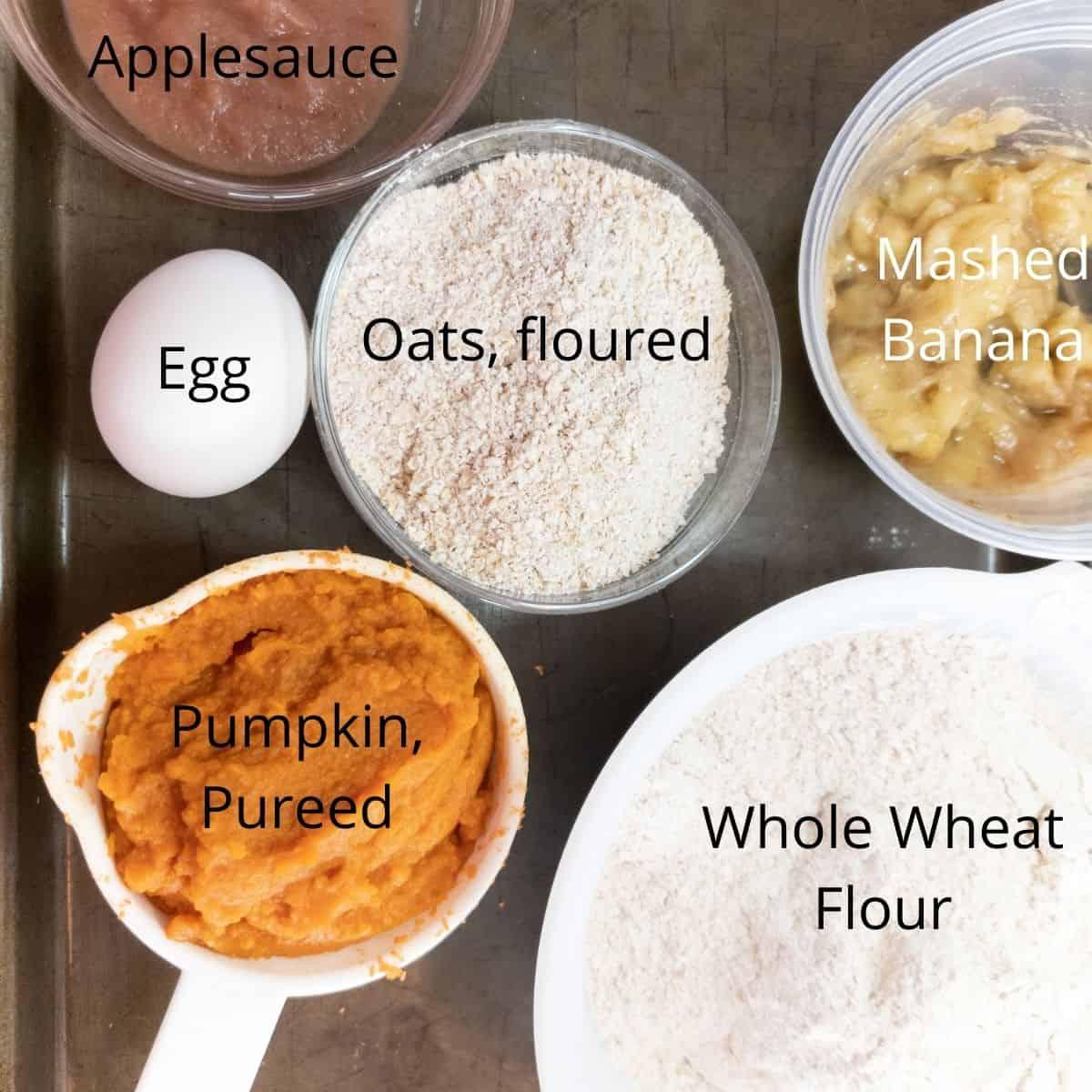 Pumpkin Banana Dog Snacks Ingredients