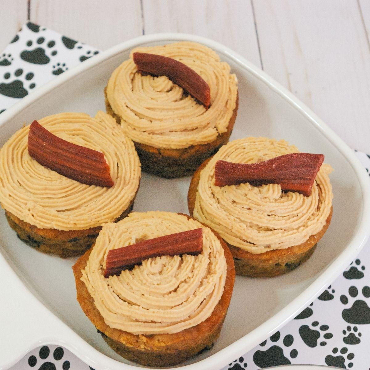 Peanut Butter & Banana Pupcakes