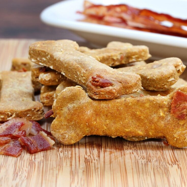 bacon dog biscuits