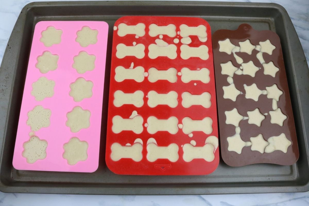 dog treats in molds