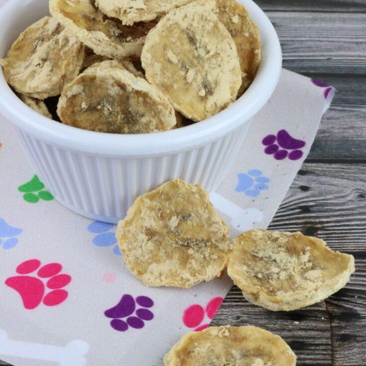 Dehydrated Peanut Butter Banana Dog Chips