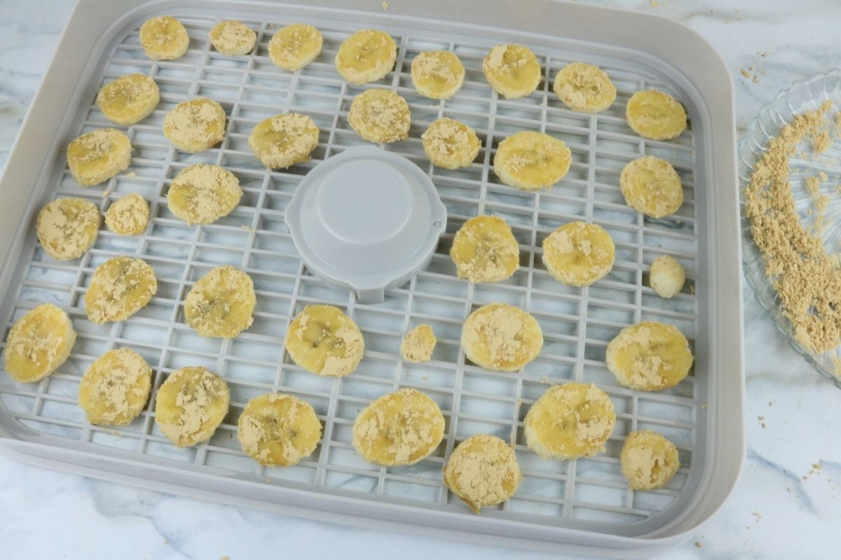dehydrate peanut butter banana chips for dogs