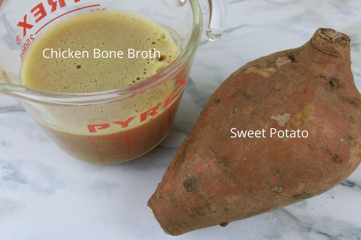 ingredients air fryer chicken sweet potato chips