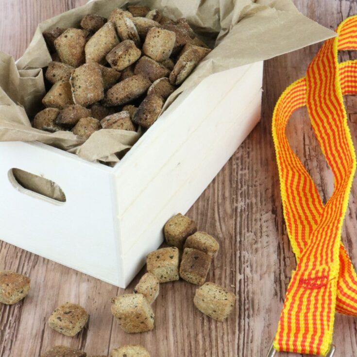 Homemade liver dog training treats