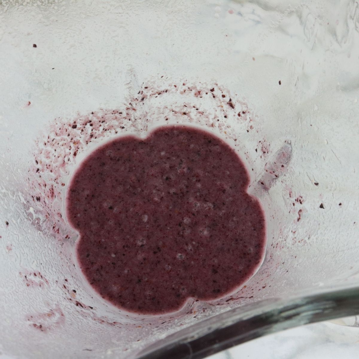 mixing blueberry