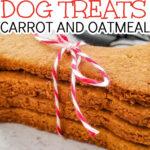 oatmeal and carrot dog treats