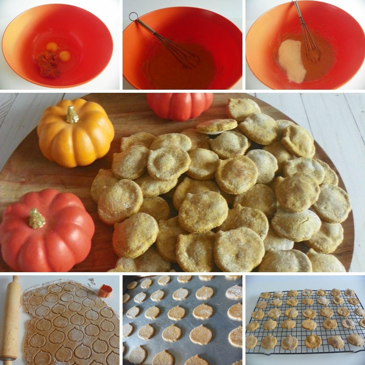Directions Halloween Pumpkin dog treats